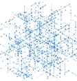 Abstract isometric computer generated 3D blueprint vector image