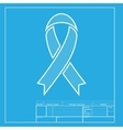 Black awareness ribbon sign White section of icon vector image