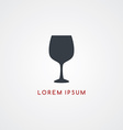 wine restaurant theme icon sign logotype vector image