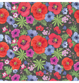 Seamless Floral Pattern with Poppies and Anemones vector image
