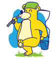 Bear Fishing vector image