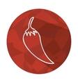 chili pepper vegetable fresh icon vector image