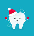 cute happy smiling funny tooth vector image
