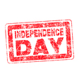 grunge isolated red stamp for 4th July vector image