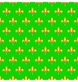 Mardi Gras seamless pattern with fleur de lis or vector image