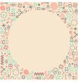 Mono line frame hipster background vector image