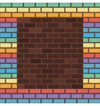 rainbow bricks vector image