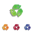 Recycle logo concept Colorfull applique icons set vector image