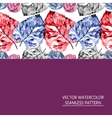seamless pattern of red and blue leaves vector image