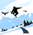 Snowboarder Silhouette Jump vector image