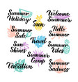 summer hand drawn quotes vector image