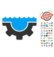 Water Service Gear Icon With 2017 Year Bonus vector image
