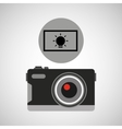 retro camera photographic light effect vector image