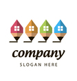 Stylized logo construction company vector image