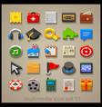 multimedia icon set-11 vector image vector image