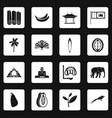 sri lanka travel icons set squares vector image