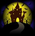 moon halloween vector image