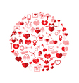 Template Circle Valentines day Love icon vector image