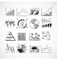 Sketch diagrams set vector image