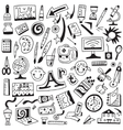 art tools school - doodles set vector image