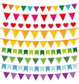 Colorful bunting flags set vector image