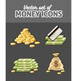 Set of icons with money vector image vector image