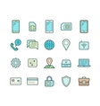 Mobile network operator icons vector image