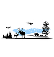 Mountain wildlife animals background vector