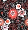 Bright graphic abstract pattern of the fantastic e vector image