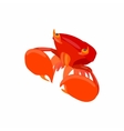 Crab with big claws icon cartoon style vector image