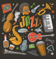 jazz musical instruments tools icons jazzband vector image