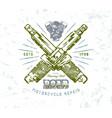 motorcycle repair emblem vector image