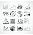 Sketch diagrams set vector image