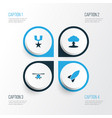warfare colorful icons set collection of vector image