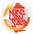 One Day Sale Banner vector image