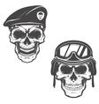 military skulls Skull in paratrooper beret Skull vector image
