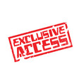 exclusive access rubber stamp vector image