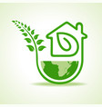save nature concept with eco home stock vector image
