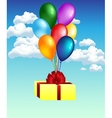 balloons with gift vector image vector image
