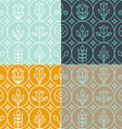 mono line graphic design templates vector image