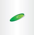 green bacteria icon vector image