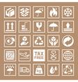 Carton Cardboard Box Icons vector image vector image