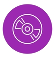 Reel tape deck player recorder line icon vector image