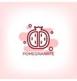 fruits pomegranate flat icon vector image