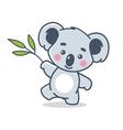 funny koala vector image
