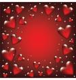 glass heart frame vector image