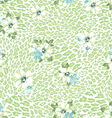 green pastel animal with flowers vector image
