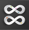 infinity symbol paper infinite road symbols with vector image