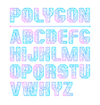 Low polygon sans serif font vector image
