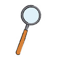 magnifier loupe research science technology vector image